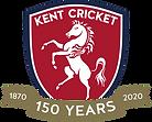 Kent Cricket 150 Years Logo BLUE EDGE.pn