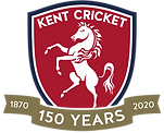 Kent Cricket 150 Years Logo BLUE EDGE.pn