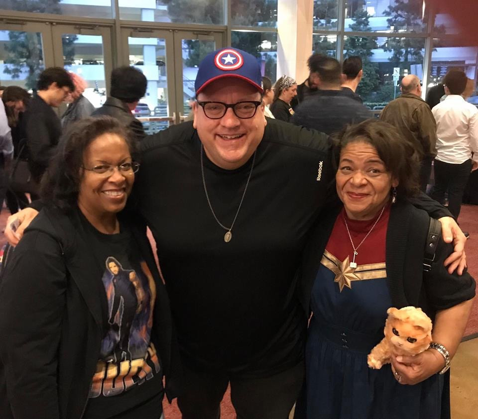 Daria (as Captain Marvel) with sister Clare and Patrick Malloy