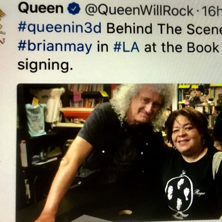 Daria with Brian May as posted on Queen Online, Aug 2017