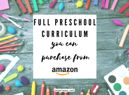 Preschool Curriculum To Purchase From Amazon