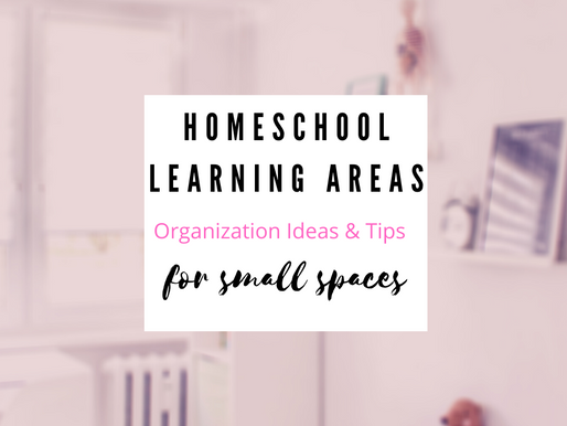 Homeschool learning Areas|Organization Ideas & Tips|For Small Spaces