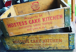 hostess crates 1950, 1962