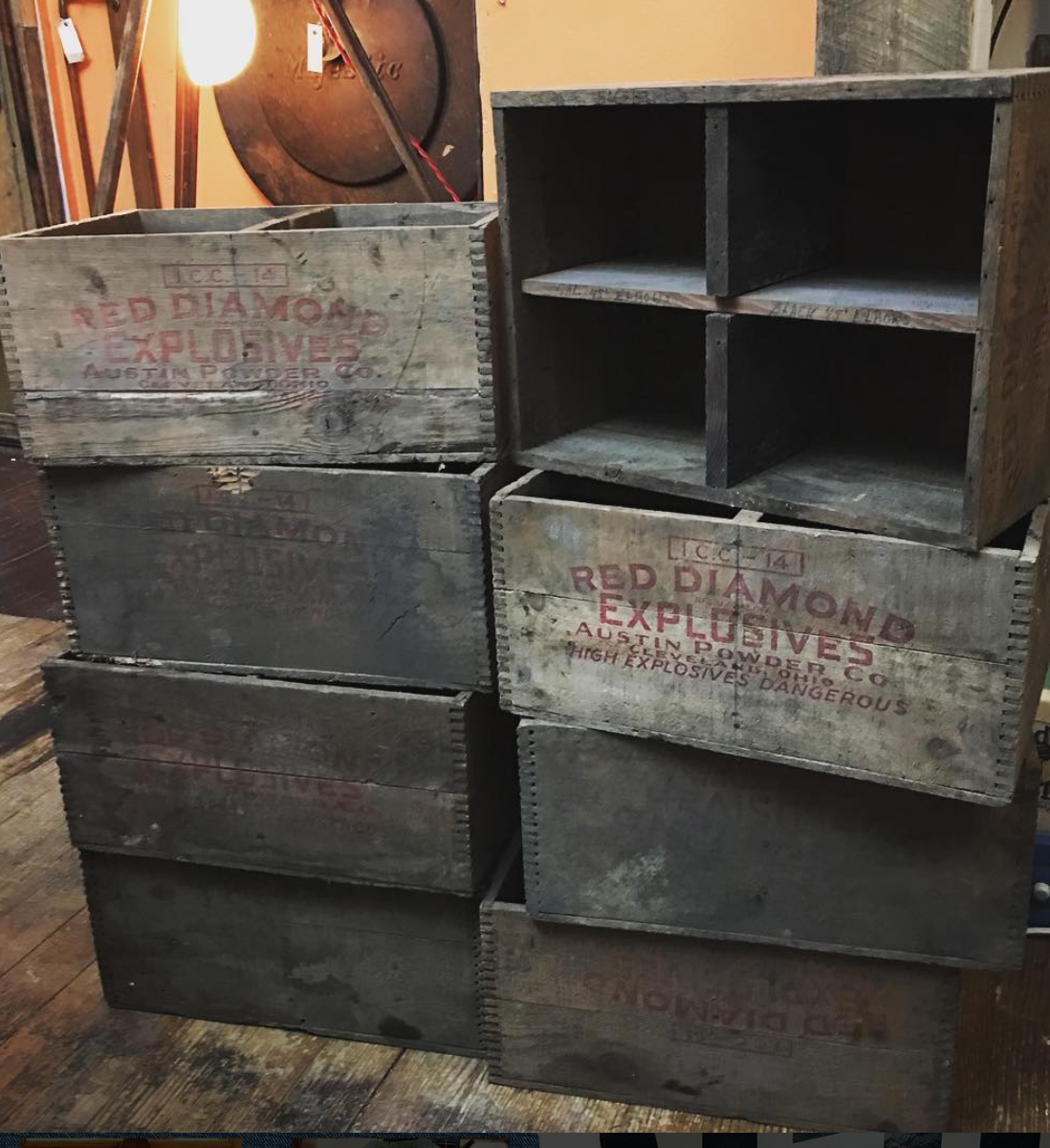 dynamite crates