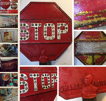 salvage nation sign stop antique