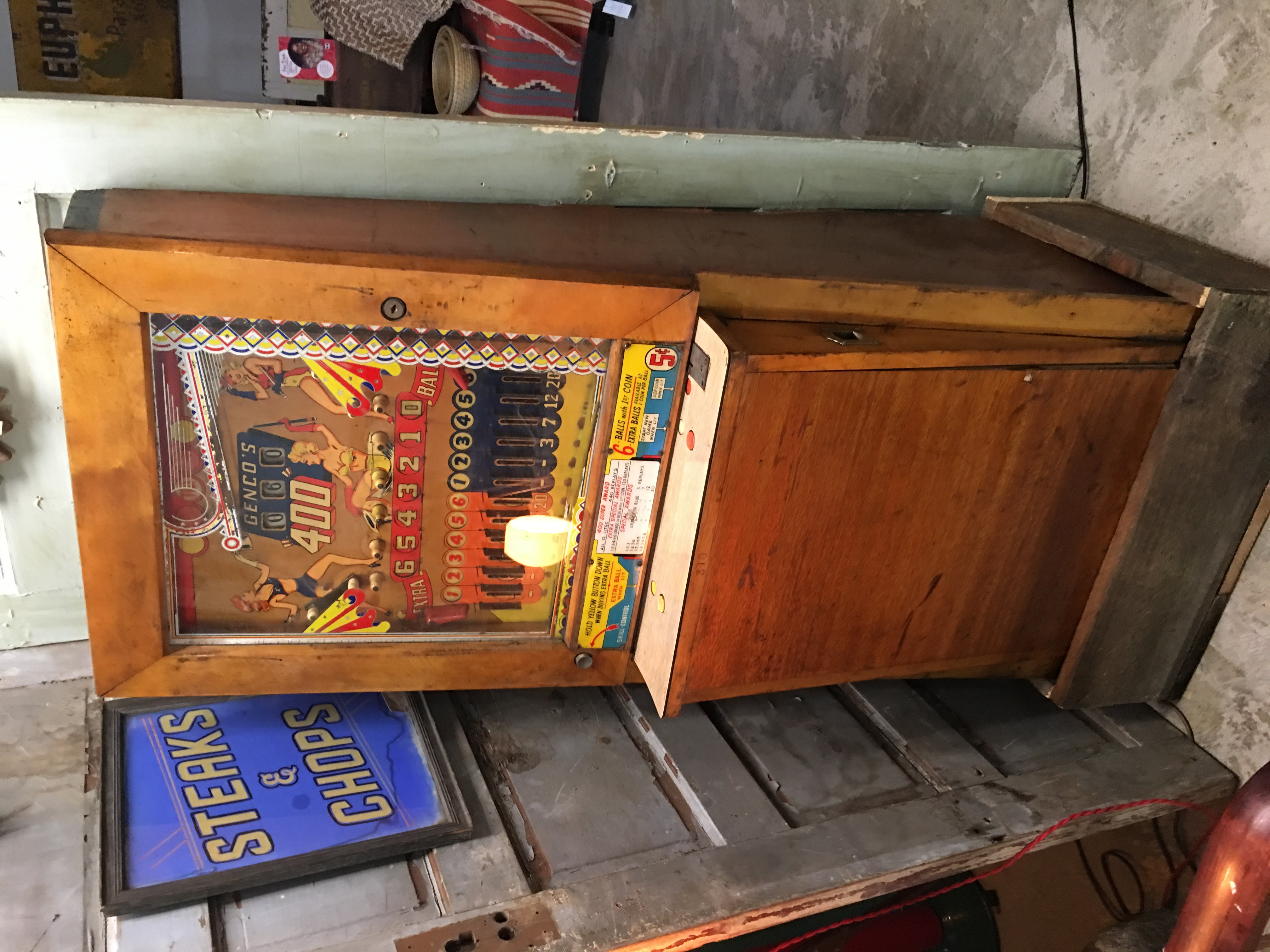 50's upright pinball
