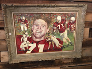Jim Weatherall Football Painting (OK)