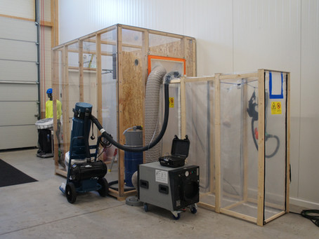 Asbestikoulutusta uusissa tiloissa