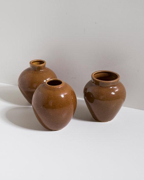Vase 'Ingrid' - 3er Set - Cafe