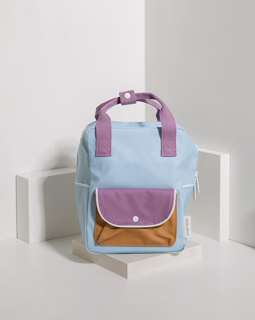 Small Backpack Wanderer - Sky Blue / Pirate Purple / Caramel Fudge