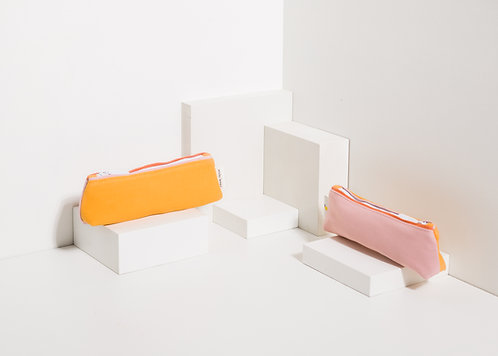 Pencil Case Freckles - Sunny Yellow / Carrot Orange / Candy Pink