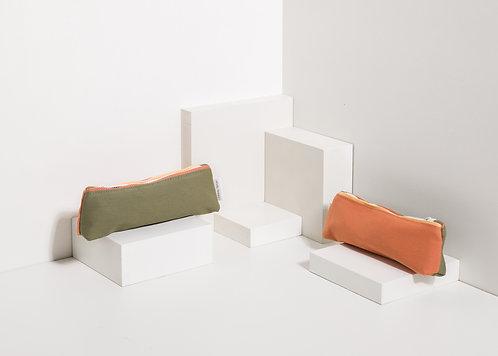 Pencil Case Freckles - Seventies Green / Faded Orange