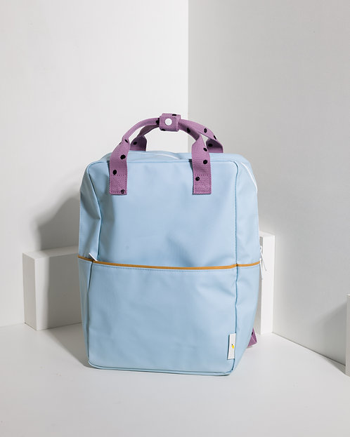 Large Backpack Freckles - Sky Blue / Pirate Purple / Caramel Fudge