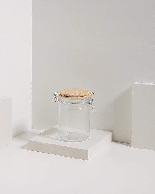Clipverschlussglas mit Holzdeckel 700 ml