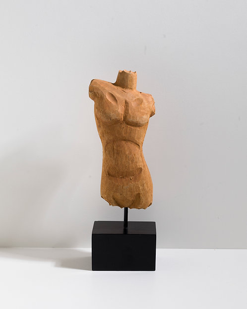 Holz Statue - Büste Mann