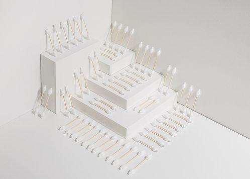 Set - 4Stk - Wattestäbchen für Kinder und Babys aus Bio-Baumwolle