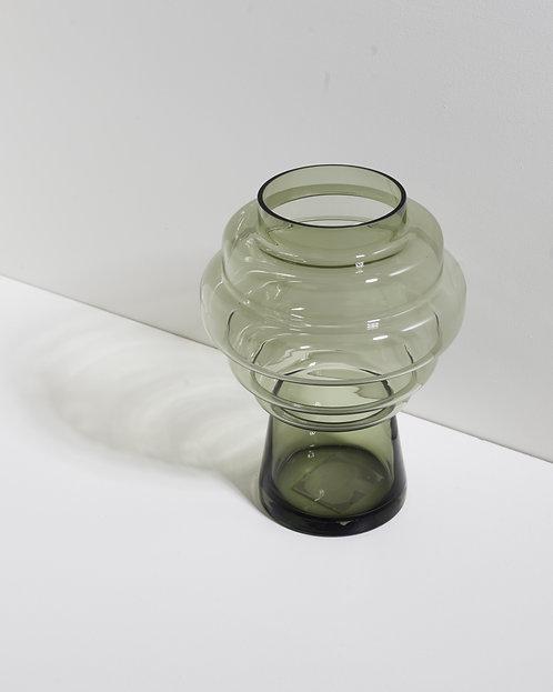 Grüne Baumglasvase - groß