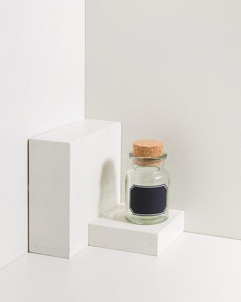 Korkenglas 150 ml mit Tafel