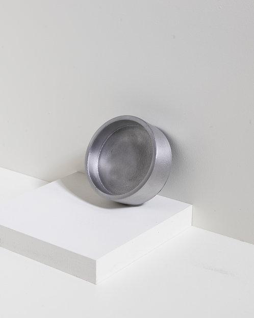Tablett Mono in Gebürstetem Silber