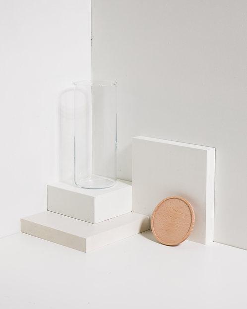 Vorratsglas 1500 ml mit Holzdeckel