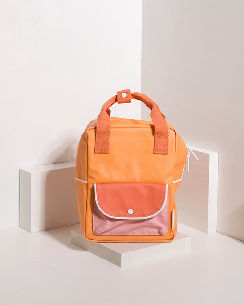 Small Backpack Wanderer - Sunny Yellow / Carrot Orange / Candy Pink