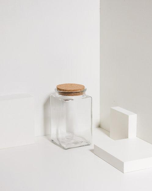 Korkenglas 1200 ml Quadratisch