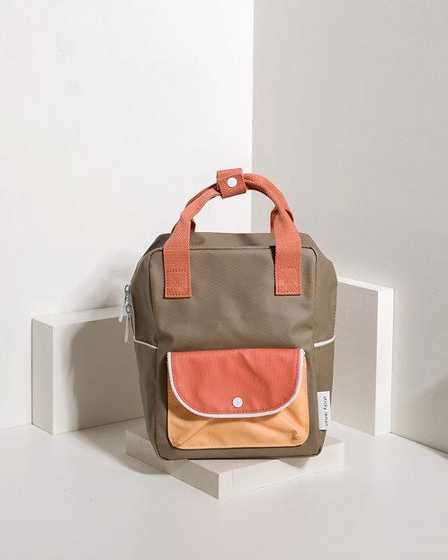 Small Backpack Wanderer - Seventies Green / Faded Orange / Retro Yellow