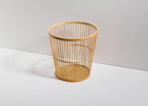 Runder Bambusholzbehälter