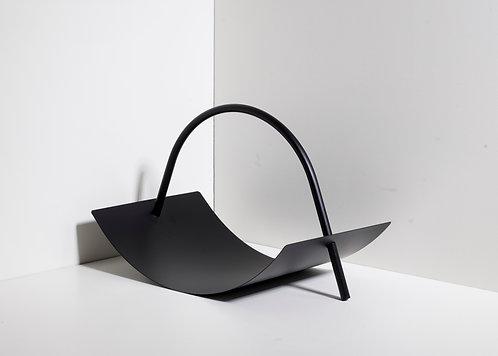 Metallholzablage - schwarz
