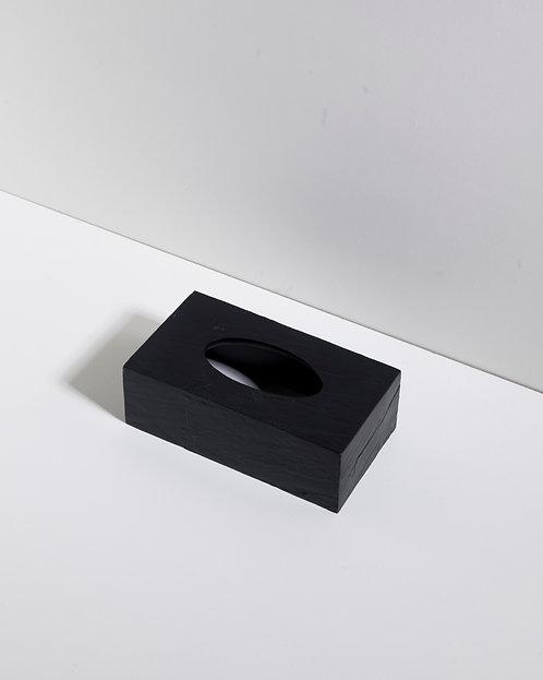 Taschentuch Box mit schwarzem Schiefereffekt