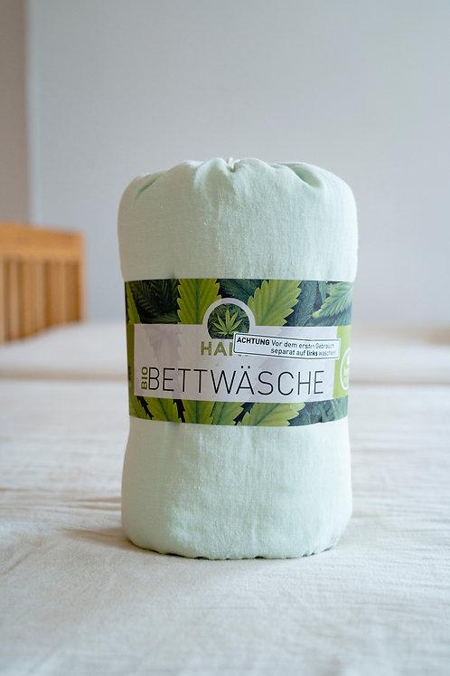 HanfBettwäsche - Lindgrün