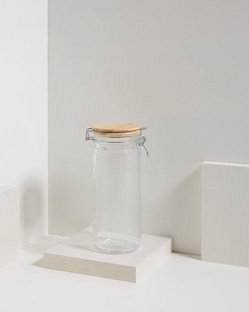 Clipverschlussglas mit Holzdeckel 1300 ml