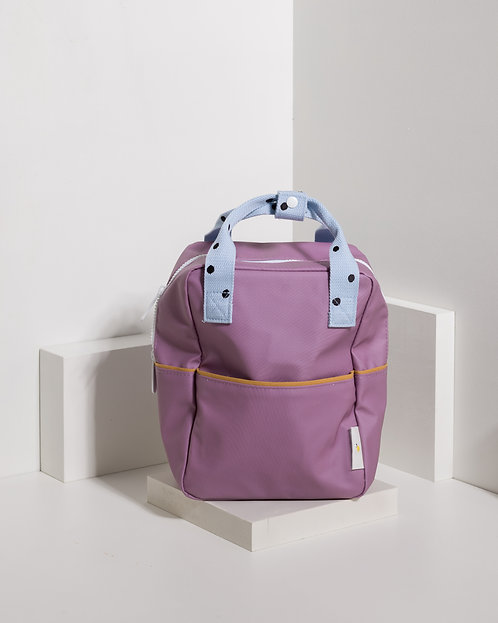 Small Backpack Freckles - Pirate Purple / Sky Blue / Caramel Fudge