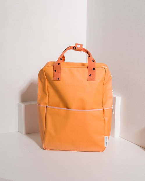 Large Backpack Freckles - Sunny Yellow / Carrot Orange / Candy Pink