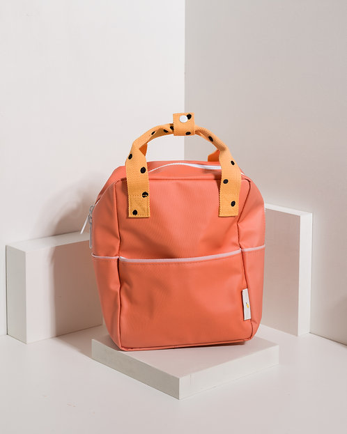 Small Backpack Freckles - Carrot Orange / Sunny Yellow / Candy Pink