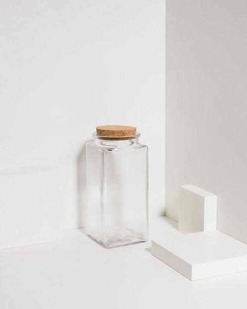 Korkenglas 1600 ml Quadratisch