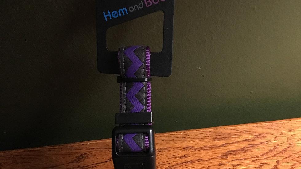 Dog Collar Purple Zig Zag Medium