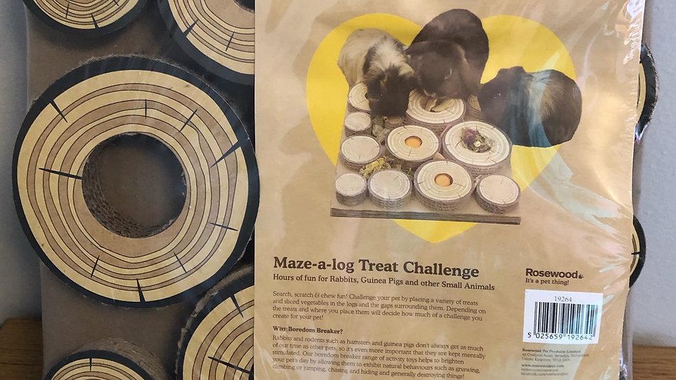 Maze-a-log Treat Challenge