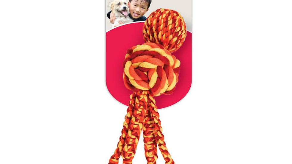 KONG Wubba Weaves with rope - Small