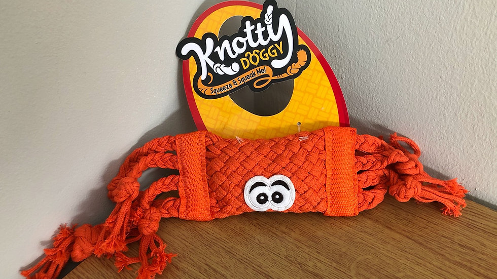 Knotty Doggy - Large Orange Crab