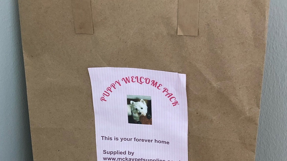 Puppy Welcome Pack Personalised Bag