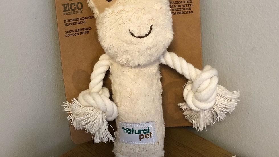 Natural Pet Rope Cow