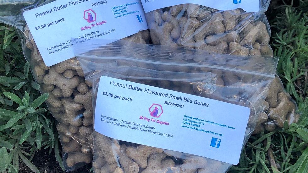 Peanut Butter Flavour Small Bites Bones - 200g