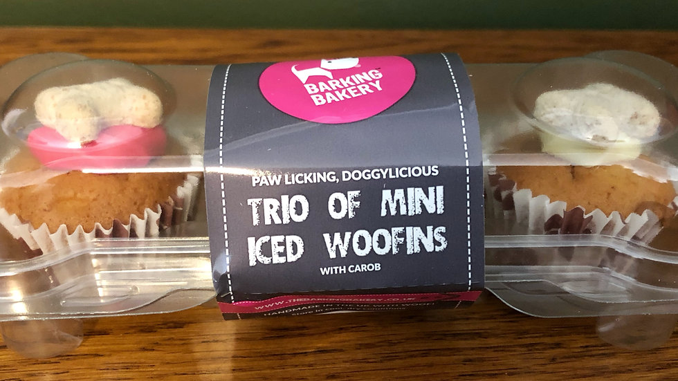 Trio of mini iced woofins