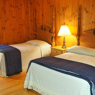 Room with Single and Double Bed