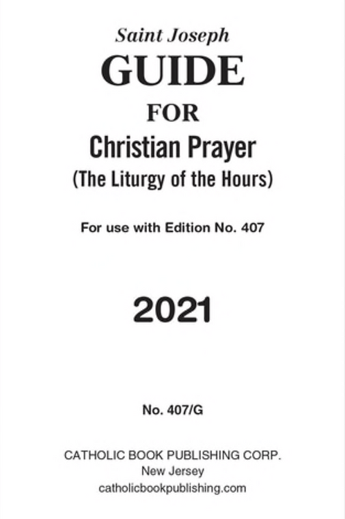 Saint Joseph Guide to Single Volume Christian Prayer