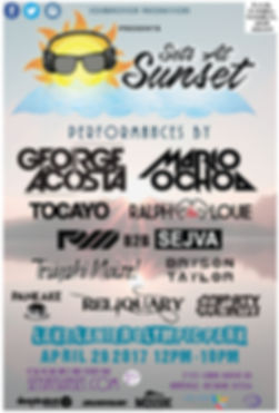 Sets at Sunset 2017 Flyer
