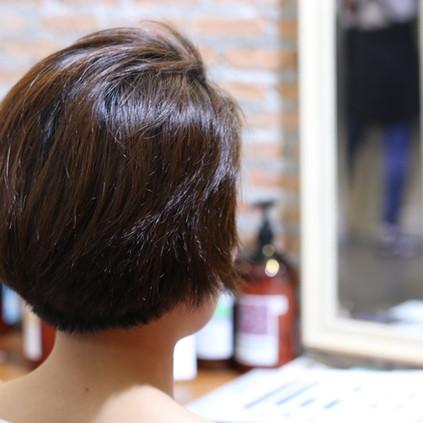 「バランス」と「質感」|バンコク 美容院 カット ショートヘア