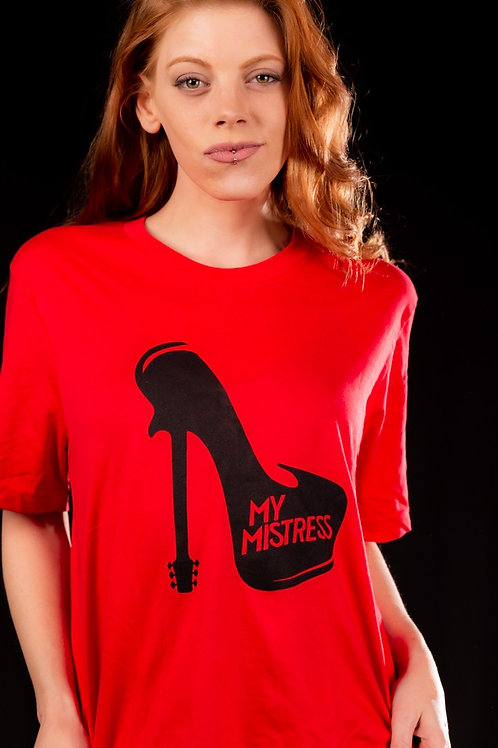 Red T-Shirt with My Mistress logo on front