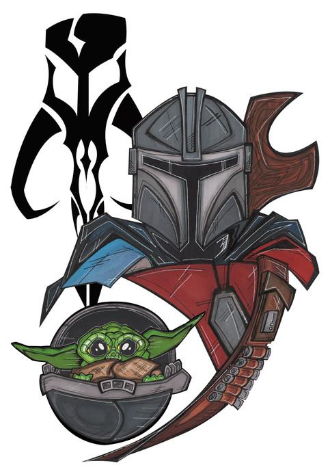 color Mando & Baby Yoda.jpg